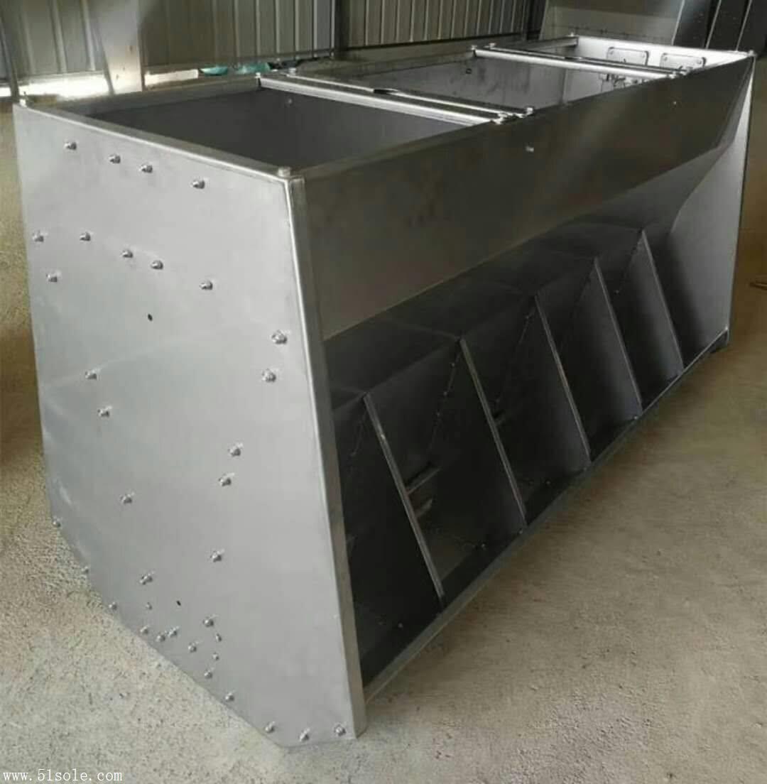 不锈钢料槽   采食槽双面料槽  猪用喂食槽 大猪食槽