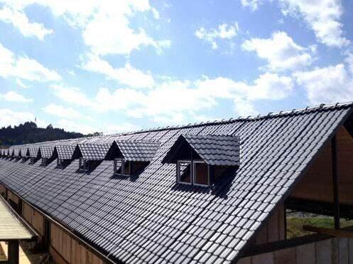 浙江廠房裝飾樹脂瓦,屋頂別墅瓦,仿古建筑小青瓦