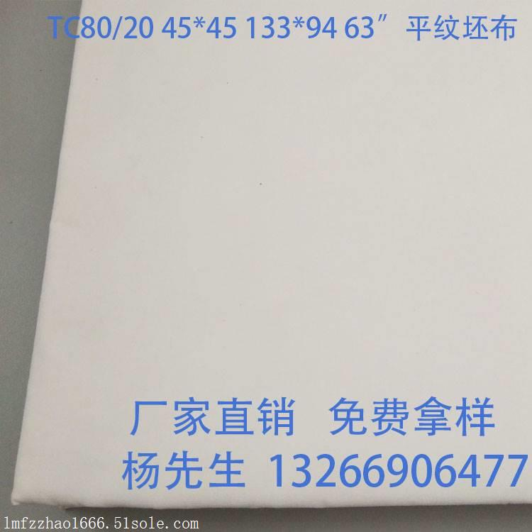 供应防羽布 坯布厂家 喷气毛边 羽绒枕套布料 TC80/20 133*94 63