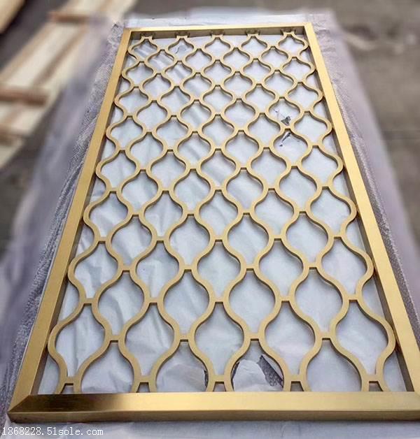 不锈钢装饰隔断 玫瑰金不锈钢花格屏风定制厂家