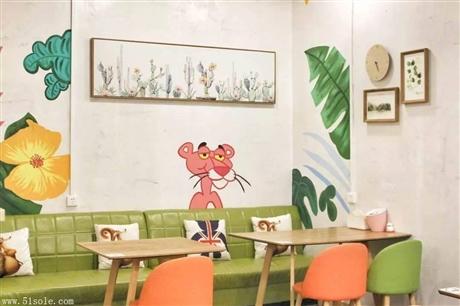 广州主题墙绘 水吧主题彩绘 特色创意彩绘 追梦墙绘