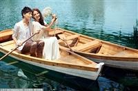 西湖手划船 欧式木船 景观装饰船 观光木船