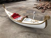 上海贡多拉 欧式手划船 白色威尼斯贡多拉拍照装饰船