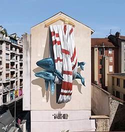 深圳广场壁画 大型商场墙绘 纯手工彩绘 追梦墙绘
