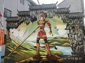 深圳大型外墙绘画 立体彩绘 3D墙绘 追梦墙绘