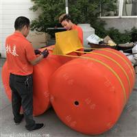 圆柱体挡渣塑料浮漂拦汛网浮桶厂家