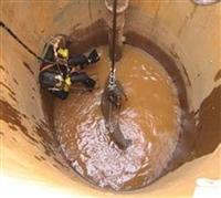 陕西渭南市水下钻孔泵房沉井施工2018工程案例