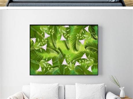 深圳墙绘 家庭装饰画彩绘 植物背景墙彩绘 追梦墙绘