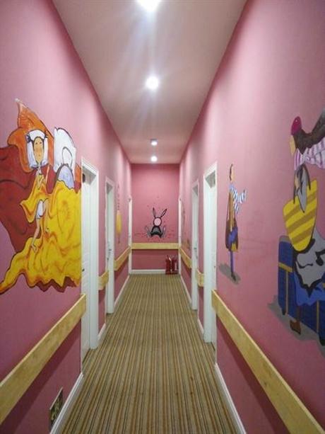 深圳卡通墙绘 儿童房墙面设计 室内创意设计 追梦墙绘
