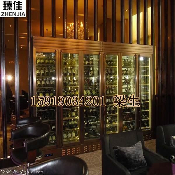 西餐厅恒温不锈钢酒柜不锈钢展示柜高端定制