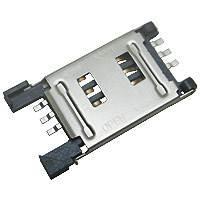 台产金属盖SIM卡座P-00830B201-G翻盖式LPC