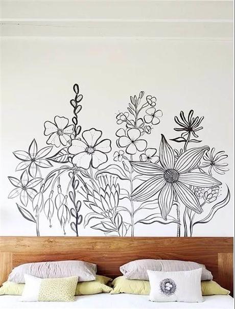 深圳家庭手绘 原创彩绘 复古纯手工墙绘 追梦墙绘