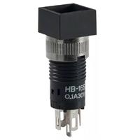 日本NKK进口8mm带灯自锁微型按钮开关现货HB-16S恩楷楷