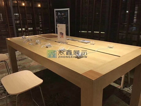 苹果实木木纹体验桌