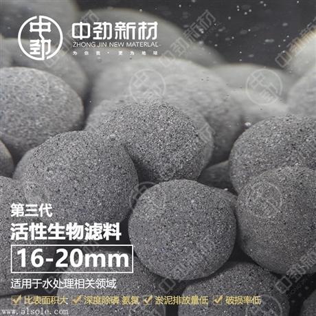 中劲活性生物滤料水处理BAF曝气池生物挂膜 环保新免烧陶粒
