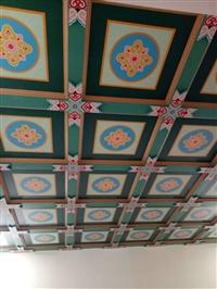 古建筑梁托寺庙大殿楼阁天花板