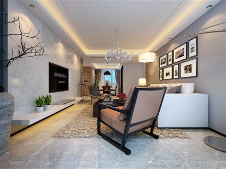 合肥方林装饰中铁滨湖名邸120平米现代简约风格装修效果图