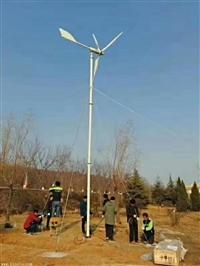 厂家500w微风启动风力发电机三叶