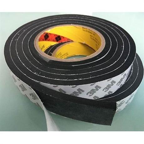 3M单面胶带 黑色泡棉胶垫 EVA海绵胶条防滑泡沫胶厚4mm 5mm10mm厚