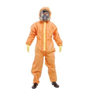 3M 4690 橙色带帽连体防护服XL