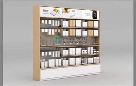 小米手机展示柜配件中岛