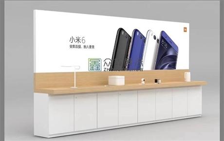 新款小米手机展示柜