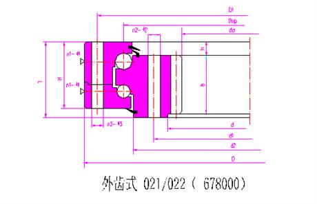 转盘轴承回转支承022.60.4700.03