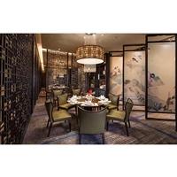 酒店餐厅KTV玄关仿古铜移动不锈钢屏风