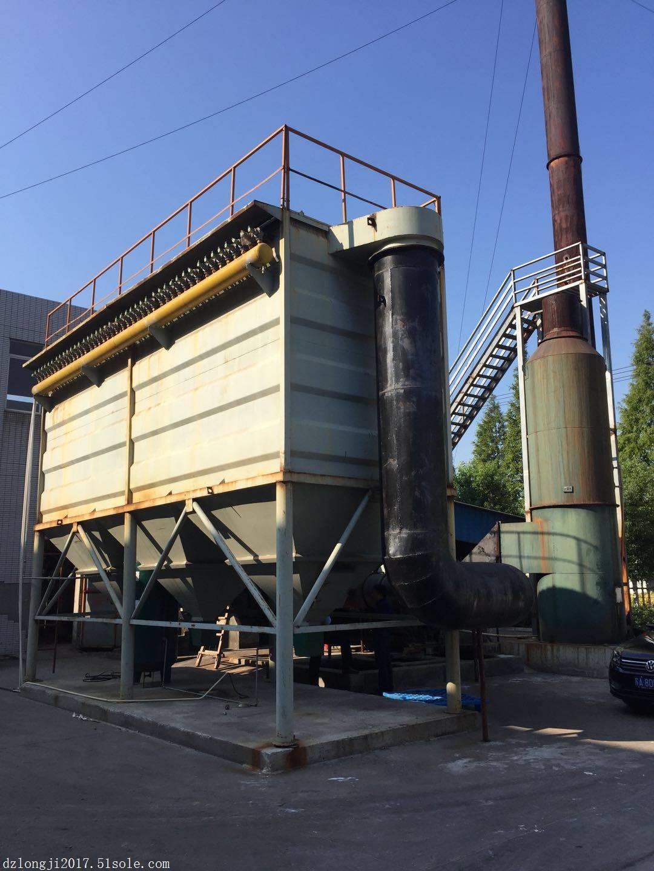 机械回转反吹扁袋式除尘器的工作原理