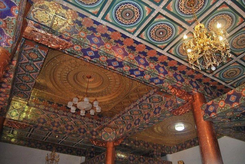古建筑浮雕吊顶艺术彩绘天花寺庙吊顶设计