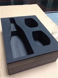 厂家EVA泡棉植绒雕刻酒盒内包装 EVA酒盒包装