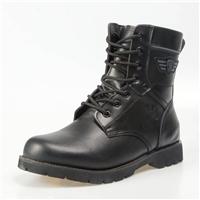 牛皮面料8239男棉军靴男士高筒靴子 堂踏鞋厂皮毛一体防寒靴