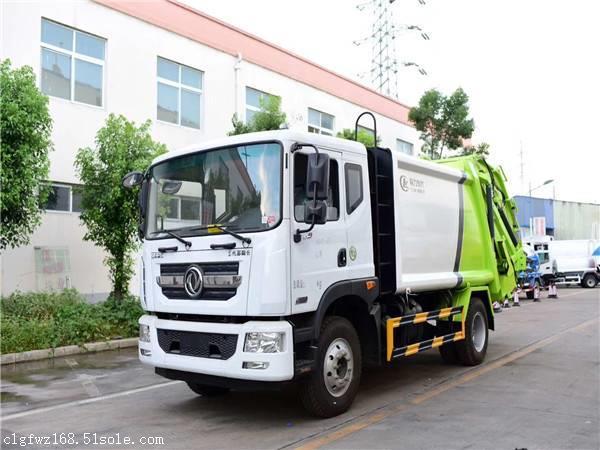 徐州市12方垃圾车多少钱能买,东风自卸式垃圾车