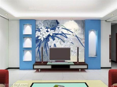 专业定制墙绘 定制电视背景墙 纯手工墙绘 家装定制彩绘 追梦墙绘