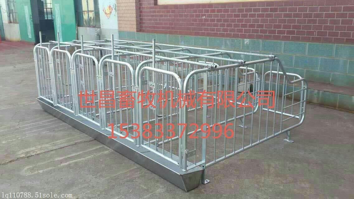 养猪设备定位栏带复合漏粪板