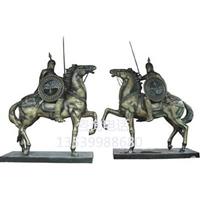 廣州藝石玻璃鋼羅馬騎士擺件 玻璃鋼羅馬戰士仿銅雕塑廠家
