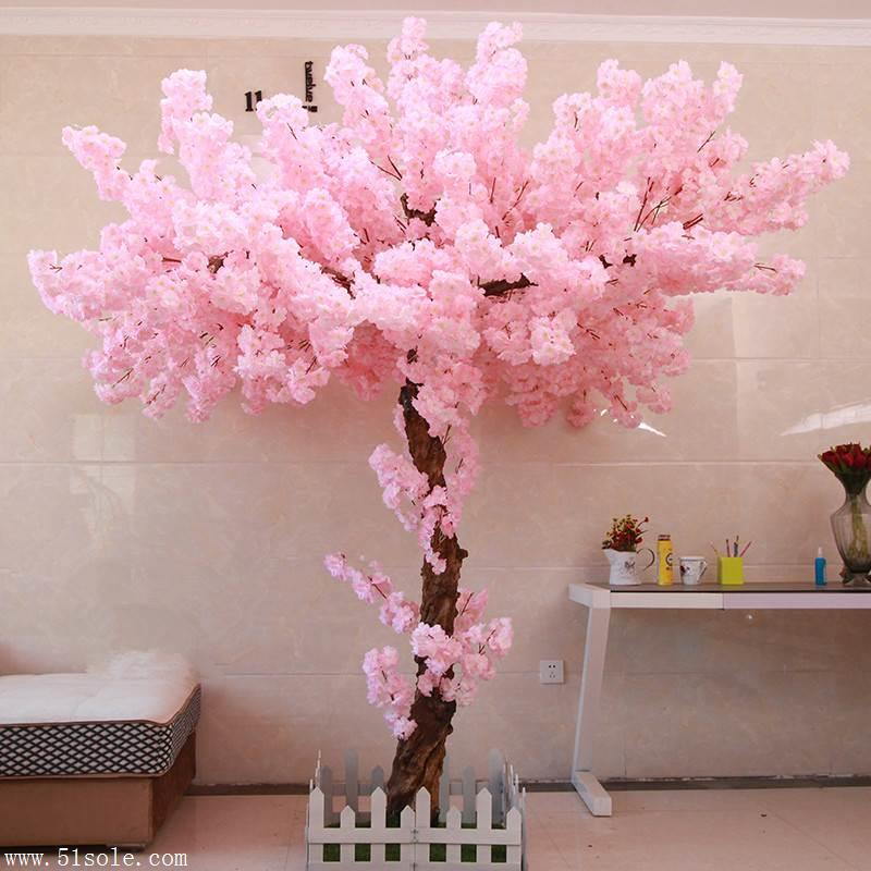 仿真樱花树 大型许愿树 可定制 酒店商场客厅庭院 婚庆装饰假桃花