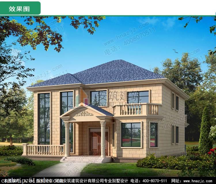 二层别墅设计欧式带车库实用型