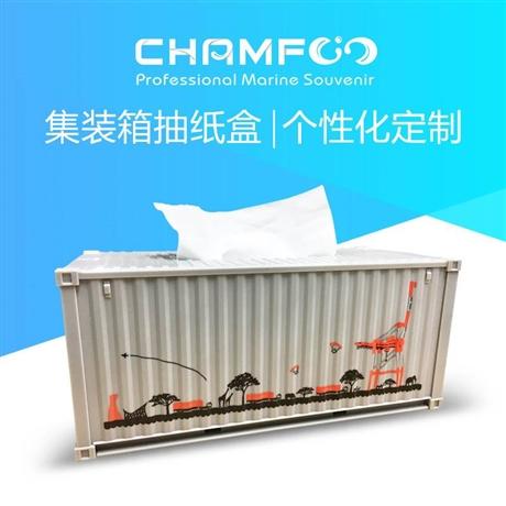 日本客户定制集装箱模型抽纸盒