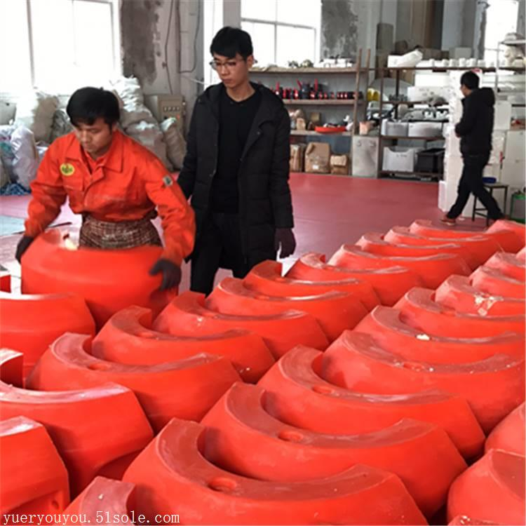 抽砂塑料浮筒 200mm疏浚管浮体 组合式浮筒厂家