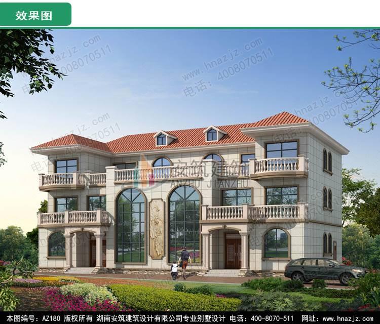 三层兄弟双拼自建房设计图纸,农村欧式高档豪华别墅