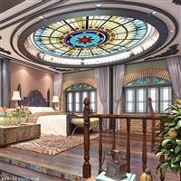 新的吊顶材料-镶嵌玻璃天花吊顶