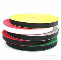 厂家直销:黑底红边底带 英文印字涤纶装饰带