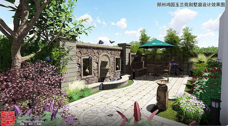 郑州别墅庭院设计-鸿园玉兰苑别墅庭院设计     欧式的田园风格别墅