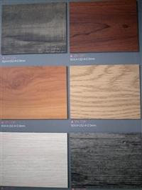 供应自粘片材木纹地板广州pvc塑胶运动地板