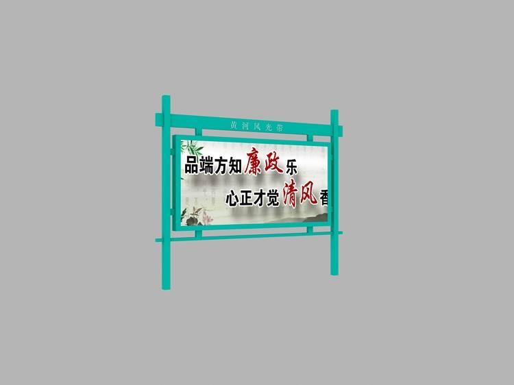 江西快递民政不锈钢橱窗宣传栏图片