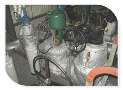 讷河蒸汽分气缸保温套应用