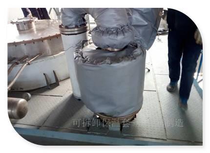 常州换热器可拆卸式软质保温衣解决方案