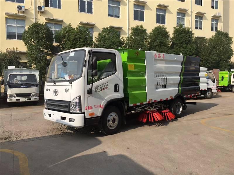 解放虎V小型5吨扫路车厂家