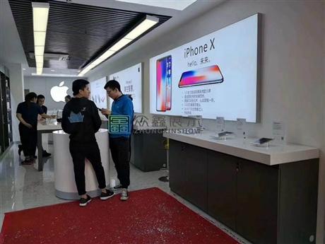 苹果靠墙体验柜台